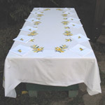 Embroidered tableclothes